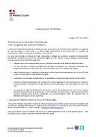 210305 communiqué préfectoral