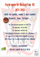 affiche porte ouverte basket2021