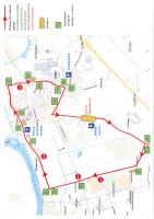 plan parcours course cycliste