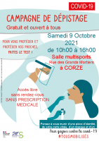 Affiche CAMPAGNE DE DEPISTAGE Corzé2